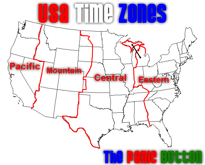 Emo Wb time zone map usa and canada